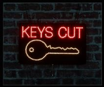 Keys Cut LED Sign